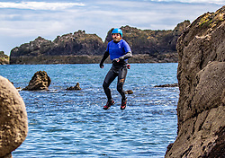 18MAY21 Matt out with Mollie Hughes and Stevie Boyle, Coasteering with Ocean Vertical at Dunbar.