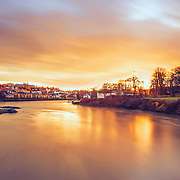This picture shot in an absolutely beautiful and dramatic sunset over Trondheim from gamlebybro.