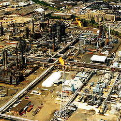 Aerial Photograph of an Oil Refinery