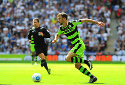 Christian Doidge of Forest Green Rovers in action- Mandatory by-line: Nizaam Jones/JMP - 14/05/2017 - FOOTBALL - Wembley Stadium- London, England - Forest Green Rovers v Tranmere Rovers - Vanarama National League Final