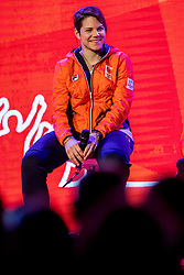 02-01-2018 NED: PloegpresentatieTeamNL, Arnhem<br /> Cheryl Maas tijdens de teamoverdracht van Olympic en Paralympic TeamNL voor de Olympische Spelen van Pyeongchang