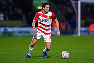 Niall Mason of Doncaster Rovers (2) in action during the The FA Cup fourth round match between Doncaster Rovers and Oldham Athletic at the Keepmoat Stadium, Doncaster, England on 26 January 2019.