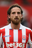 STOKE ON TRENT, ENGLAND - AUGUST 20: Joe Allen of Stoke City looks on during the Barclays Premier League match between Stoke City and Manchester City on August 20, 2016 in Stoke on Trent, England. (Photo by Chris Brunskill/Getty Images)