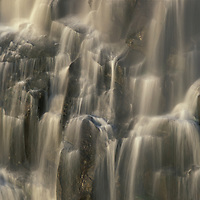 Africa, Zambia, Mosi-Oa-Tunya National Park,  Blurred water of Eastern Cataract of Victoria Falls at end of dry season