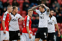 Aden Flint of Bristol City looks dejected - Photo mandatory by-line: Rogan Thomson/JMP - 07966 386802 - 20/12/2014 - SPORT - FOOTBALL - Crewe, England - Alexandra Stadium - Crewe Alexandra v Bristol City - Sky Bet League 1.