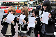 young aspiring female models preparing for a test shoot Japan Tokyo