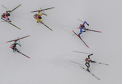 March 16, 2019 - –Stersund, Sweden - 190316 Susan Dunklee of USA, Linn Persson of Sweden, Lisa Vittozzi of Italy, Anais Chevalier of France and Vanessa Hinz of Germany compete in the Women's 4x6 km Relay during the IBU World Championships Biathlon on March 16, 2019 in Östersund..Photo: Petter Arvidson / BILDBYRÃ…N / kod PA / 92268 (Credit Image: © Petter Arvidson/Bildbyran via ZUMA Press)