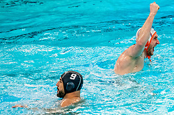 Jorn Muller of the Netherlands in action against France during the Olympic qualifying tournament. The Dutch water polo players are on the hunt for a starting ticket for the Olympic Games on February 17, 2021 in Rotterdam