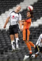 Photo: Daniel Hambury.<br />Fulham v Boavista. Pre Season Friendly. 12/08/2006.<br />Boavista's Mario Silva and Fulham's Helder Helguson battle.