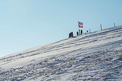 December 3, 2016 - Water protectors standing in the top of a hill over the Oceti Sakowin Camp at Standing Rock, ND (Credit Image: © Dimitrios Manis via ZUMA Wire)