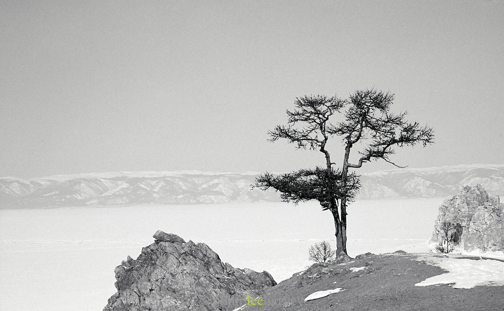 View of Lake Baikal from Olkhon Island, Siberia, Russia