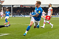GOAL - Sam Szmodics scores Peterborough's 2nd during the EFL Sky Bet League 1 match between Peterborough United and Rotherham United at London Road, Peterborough, England on 25 January 2020.