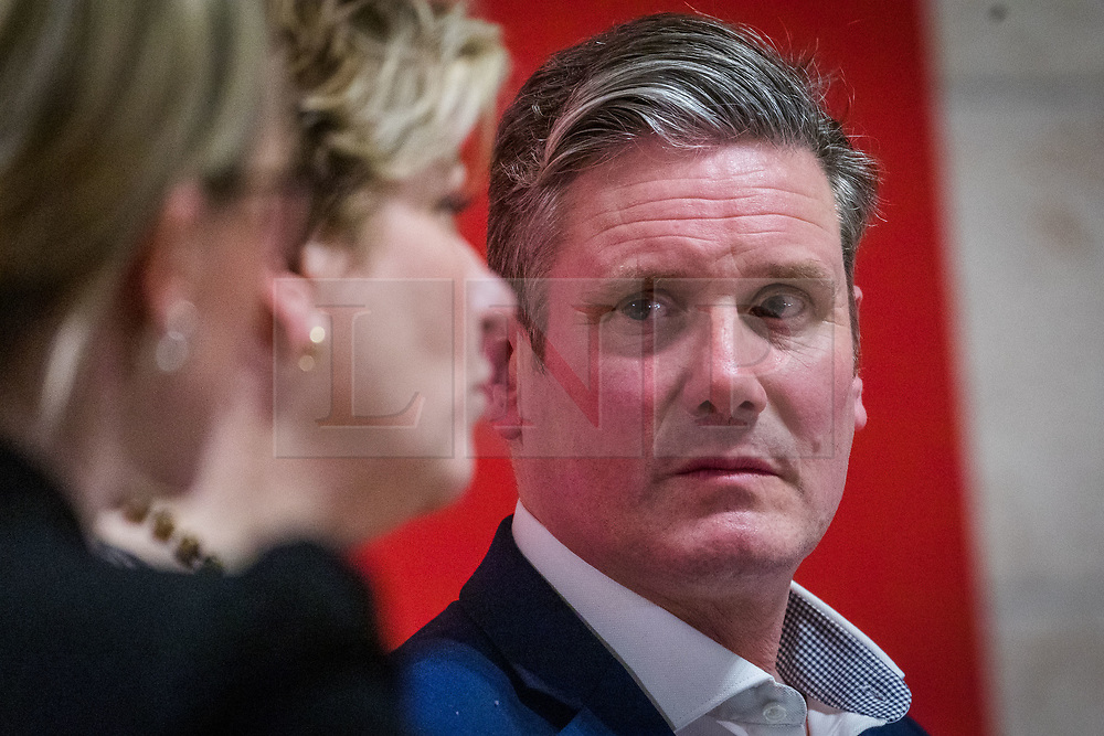 © Licensed to London News Pictures. 13/02/2020. London, UK. Sir Keir Starmer at the Jewish Labour Movement (JLM) Labour Party leadership hustings held at the Liberal Jewish Synagogue in St John's Wood. The JLM will announce its leadership nomination on Friday February 14th. Photo credit: Vickie Flores/LNP