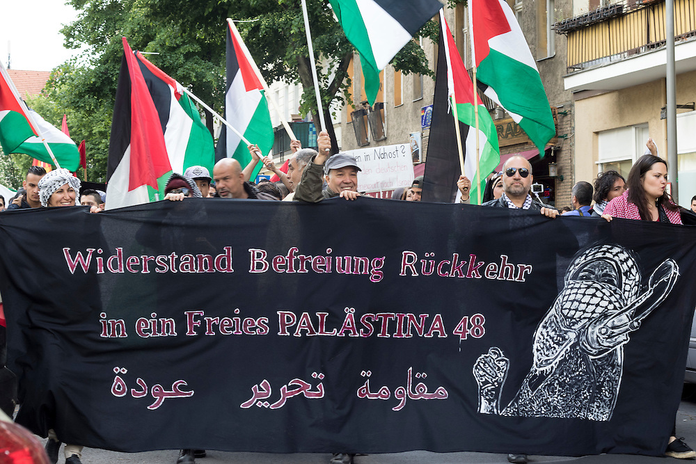 Palestinan supporters mark Nakba Day (Day of the Catastrophe) on the 68th anniversary of Nakba, when 700,000 Palestinians were displaced to form the state of Israel