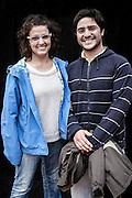 JAVIER CALVELO/  MONTEVIDEO/  ESTADIO CENTENARIO/ CLASIFICATORIAS SUDAMERICANAS MUNDIAL BRASIL 2014 / REPECHAJE MUNDIAL BRASIL 2014 - SERIE SUDAMERICA-ASIA/  PARTIDO DE VUELTA/ URUGUAY-JORDANIA<br /> Proyecto documental sobre la identidad, lo nacional, lo Uruguayo y el consumo. Se trata de retratos simples mirando a camara y con un fondo neutro. Les pregunto a los fotografiados como quieren ser recordados en el futuro y de que localidad son.<br /> El trabajo esta influenciado por la obra de August Sander pero tambien por Richard Avedon y Manuel Alvarez Bravo. <br /> El titulo esta basado en la obra de Raymond Firth, Tipos Humanos. (Raymond William Firth, ( 1901-2002) fue un etnólogo neozelandés profesor de Antropología en la London School of Economics, es uno de los fundadores de la antropología económica británica). <br /> En la foto:  Tipos Humanos en el Estadio Centenario, tribuna Colombes, Viky Martínez. Foto: Javier Calvelo <br /> vikymardi@gmail.com<br /> 2013-11-20 dia miercoles