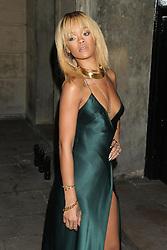 Rihanna arriving for the Stella McCartney Winter 2012 London Evening Wear Presentation, in Mayfair, central London.