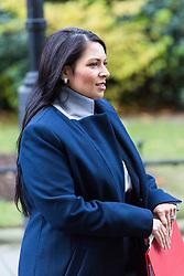 London, October 31 2017. International Development Secretary Priti Patel leaves the weekly UK cabinet meeting at Downing Street. © Paul Davey