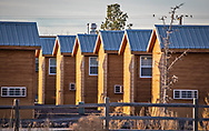 """Target Lodging Pecos Lodge, a man camp"""" where the primarily male workers live in temporary housing."""