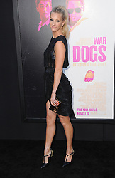August 15, 2016 - Hollywood, CA, United States - 15 August 2016 - Hollywood, California. Heather Morris. Los Angeles premiere of ''War Dogs'' held at TCL Chinese Theatre. Photo Credit: Birdie Thompson/AdMedia (Credit Image: © Birdie Thompson/AdMedia via ZUMA Wire)
