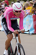 London 7th July 2007: T-Mobile's Axel Merckx (#028) finished 82nd overall at 54 seconds in the opening prologue of the 2007 Tour de France cycling race.