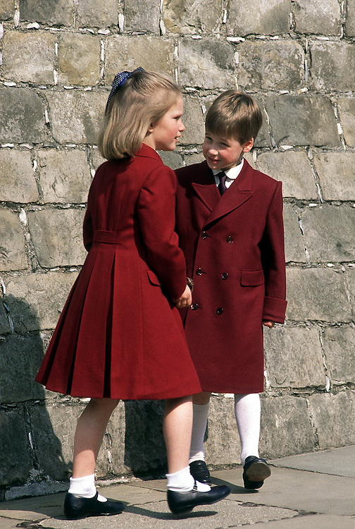 Prince William with his cousin Zara Phillips at Windsor Castle. Photographed by Jayne Fincher
