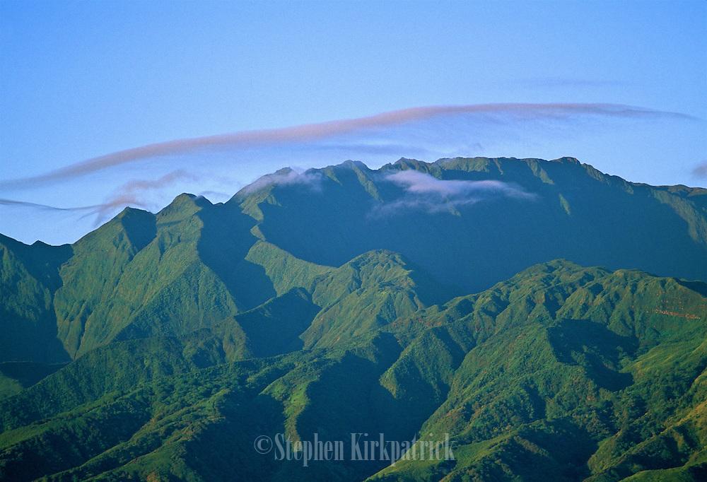West Maui mountains at sunrise.