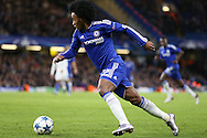 Willian of Chelsea running with the ball. UEFA Champions league group G match, Chelsea v Porto at Stamford Bridge in London on Wednesday 9th December 2015.<br /> pic by John Patrick Fletcher, Andrew Orchard sports photography.