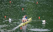 Lucerne, SWITZERLAND, Saturday , 28/05/2016 , 2016 FISA WCII,  Lake Rottsee,  Women's Pair GBR2 W2- Bow. Louisa REEVE, Victoria MEYER-LAKER,   [Mandatory Credit; Peter SPURRIER/Intersport-images]