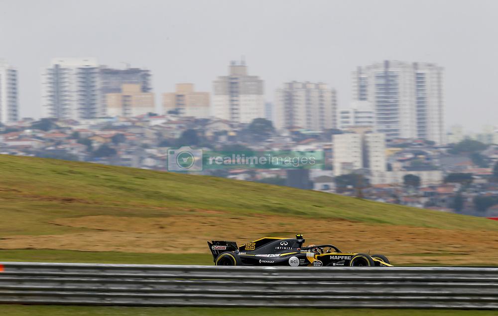 November 9, 2018 - Sao Paulo, Brazil - Motorsports: FIA Formula One World Championship 2018, Grand Prix of Brazil World Championship;2018;Grand Prix;Brazil ,  #55 Carlos Sainz (ESP, Renault  (Credit Image: © Hoch Zwei via ZUMA Wire)
