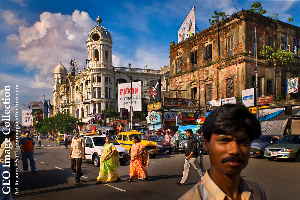 Heart of England on Indian soil, Chownringhee Road  in Kolkata was once compared to Piccadilly in London.  Like the rest of Kolkata, formerly Calcutta, the thoroughfare's deterioration began with the partition of India along religious lines in 1947, an event that brought Hindu immigrants from what is now Muslim Bangladesh.