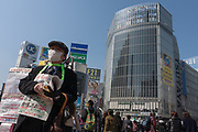 Video screens in Shibuya are turned off to save electricity  after a magnitude 9 earthquake and large tsunami hit the Tohoku region of north east Japan  on March 11th killing nearly 20,000 people and causing massive destruction along the whole coast, and a melt-down at the Fukushima Daichi nuclear power station. Shibuya, Tokyo, Japan March 13th 2011