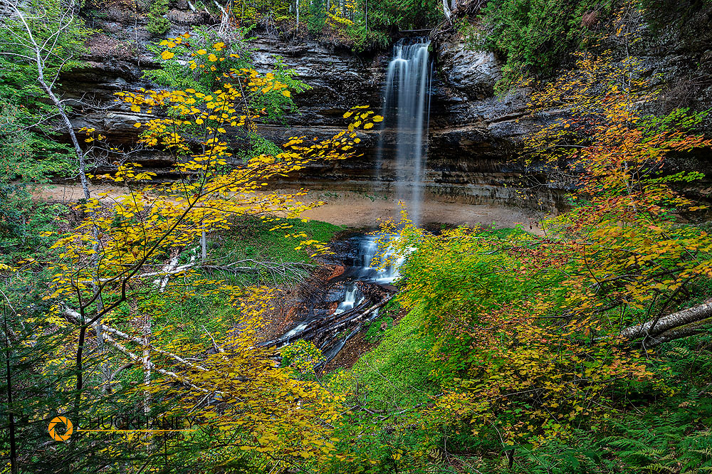 Munising Falls at Pictured Rocks National Lakeshore, Michigan, USA