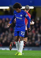 Football - 2018 / 2019 Premier League - Chelsea vs Southampton<br /> <br /> Chelsea's Willian picks up an injury at Stamford Bridge.<br /> <br /> COLORSPORT/ASHLEY WESTERN