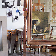 The Andrew Wyeth Studio in Chadds Ford, Pa. on 24 August.  The Studio is much as Wyeth left it upon his death and can be toured through the Brandywine River Museum. Photograph by Jim Graham