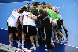 German team before 21st Men's World Handball Championship preliminary Group C match between National teams of Germany and Poland, on January 22, 2009, in Arena Varazdin, Varazdin, Croatia.  (Photo by Vid Ponikvar / Sportida)