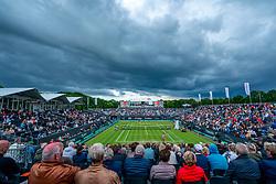 13-06-2019 NED: Libema Open, Rosmalen Grass Court Tennis Championships / Dark clouds above centercourt during the match Kiki Bertens vs. Arantxa Rus in second round. Support