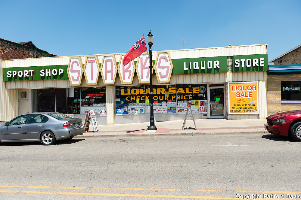 Sports store, grocery store, liquor store, gun store...all rolled into one. One stop shopping. Is this the direction of America? A store in Wisconsin.