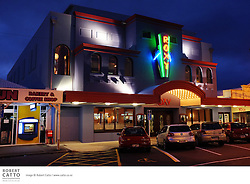 The newly opened Roxy Cinema in Miramar welcomes visitors to Cafe Coco and to look around the opulent interior of the building, while the cinema screens a slideshow of construction images.