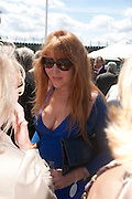 CHARLOTTE TILBURY, Cartier International Polo. Smiths Lawn. Windsor. 24 July 2011. <br /> <br />  , -DO NOT ARCHIVE-© Copyright Photograph by Dafydd Jones. 248 Clapham Rd. London SW9 0PZ. Tel 0207 820 0771. www.dafjones.com.