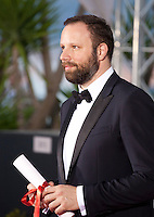 Director Yorgos Lanthimos winner of the Jury Prize for the film The Lobster at the Palm D'Or award winners photo call at the 68th Cannes Film Festival Sunday May 24th 2015, Cannes, France.