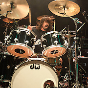 WASHINGTON, DC - May 5th, 2014 - Dave Grohl performs at the 9:30 Club in Washington D.C. as part of the birthday celebration for Trouble Funk's Big Tony. Grohl began the night on drums, performing with members of Scream and Bad Brains. (Photo by Kyle Gustafson / For The Washington Post)