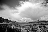 Mid altitude Tibet, one of Tibet's sweeping vistas.