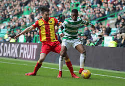 Celtic's Charlie Musonda (right) and Partick Thistle's Callum Booth during the William Hill Scottish Cup, fifth round match at Celtic Park, Glasgow.