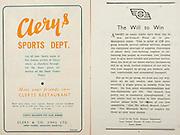 All Ireland Senior Hurling Championship Final,.Brochures,.07.09.1947, 09.07.1947, 7th September 1947,.Kilkenny 0-14, Cork 2-7,.Minor Galway v Tipperary, .Senior Kilkenny v Cork, .Croke Park,..Advertisements, Clery's Sports Dept, ..Articles, The Will to Win,