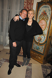 JULIAN OZANNE and DIXIE CHASSAY at a party to celebrate the publication of The End of Sleep by Rowan Somerville held at the Egyptian Embassy, London on 27th March 2008.<br /><br />NON EXCLUSIVE - WORLD RIGHTS