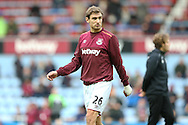 Nikica Jelavic of West Ham United looks on during prematch warm up. The Emirates FA cup, 3rd round match, West Ham Utd v Wolverhampton Wanderers at the Boleyn Ground, Upton Park  in London on Saturday 9th January 2016.<br /> pic by John Patrick Fletcher, Andrew Orchard sports photography.