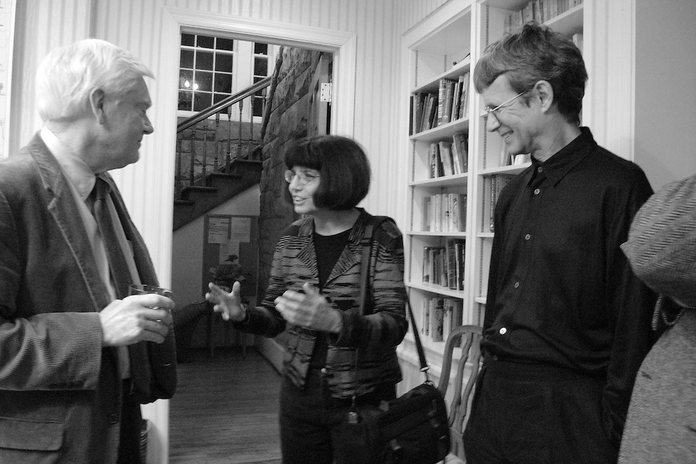 Thomas Carlson (professor of the English at Sewanee) with Debora Greger and William Logan (poets at the University of Florida).