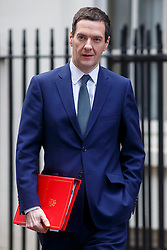 © Licensed to London News Pictures. 03/03/2015. LONDON, UK. Chancellor of Exchequer George Osborne attending to a cabinet meeting in Downing Street on Tuesday, 3 March 2015. Photo credit: Tolga Akmen/LNP
