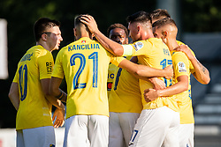 Players of Bravo cellebrate their goal during football match between NS Mura and NK Bravo in 3nd Round of Prva liga Telemach 2021/22, on 31st of July, 2021 in Fazanerija, Murska Sobota, Slovenia. Photo by Blaž Weindorfer / Sportida
