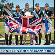 British Team, winners of the FEI Eventing Nations Cup at the Brook Ledge Great Meadow International in The Plains, Virginia.